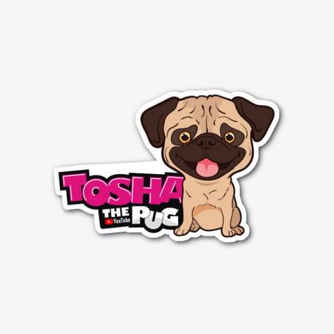 Tosha the Pug 2.0 Sticker